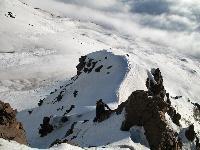 Etna, 3343 m. G.Cavallo sulla parte bassa della Serra Cuvigghiuni in Valle del Bove.