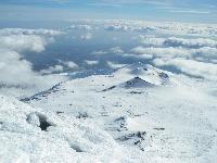 Etna, 3343 m. Grandiosa vista dal cratere di  Sud/Est.
